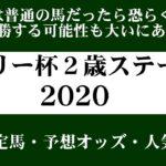 【ゼロ太郎】「デイリー杯2歳ステークス2020」出走予定馬・予想オッズ・人気馬見解