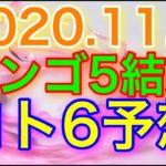 【2020.11.5】ビンゴ5結果&ロト6予想!