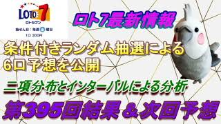【ロト7】最新情報(第395回結果&次回予想)