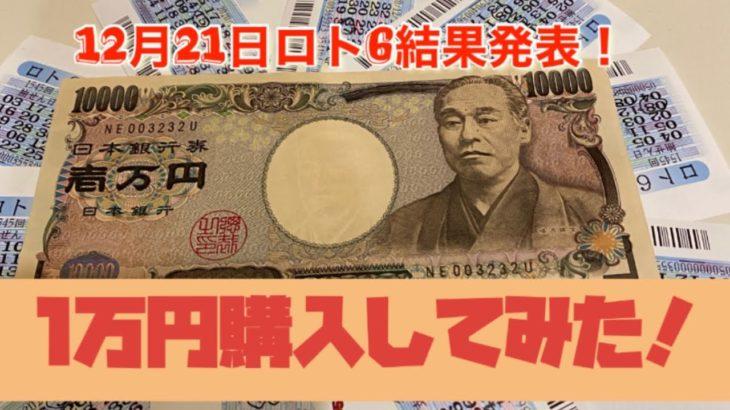 12月21日ロト6!1万円購入してみた結果発表!