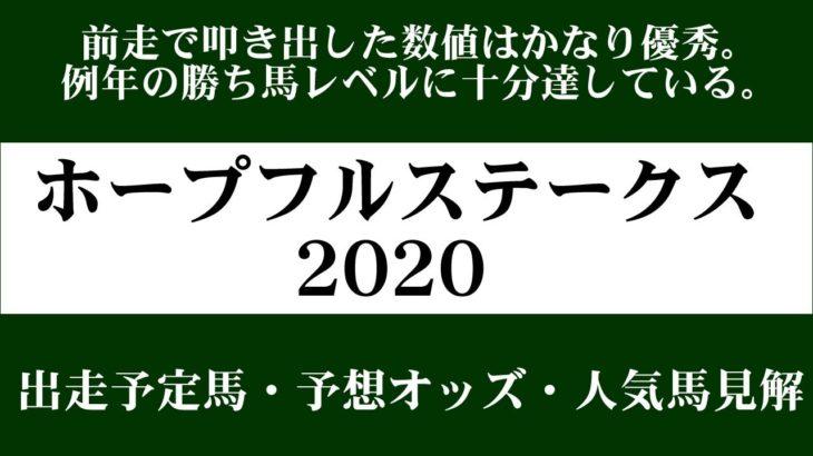 【ゼロ太郎】「ホープフルステークス2020」出走予定馬・予想オッズ・人気馬見解