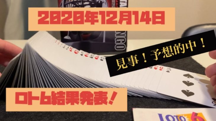 2020年12月14日ロト6結果発表!見事的中!!