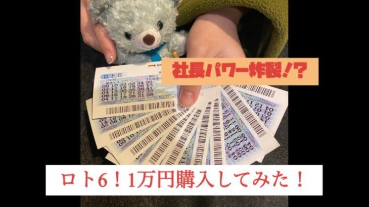 宝くじロト6!1万円購入してきた!