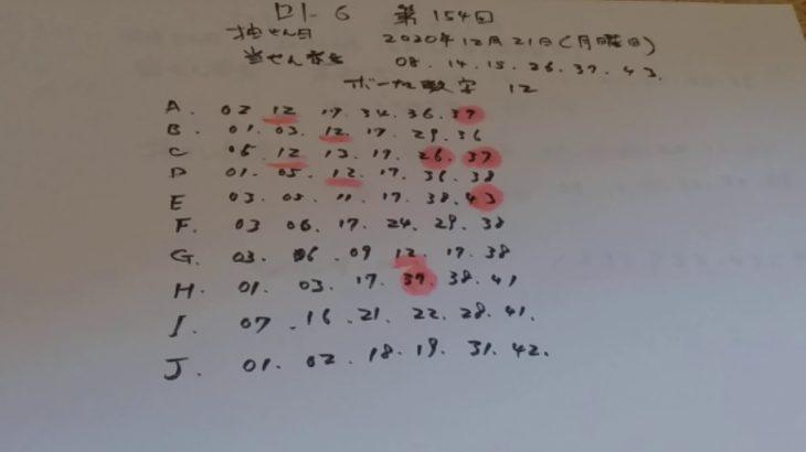 「ロト6」第1545回、当選番号は8,14,15,26,37,43ボーナス数字12