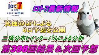 【ロト7】最新情報(第398回結果&次回予想)