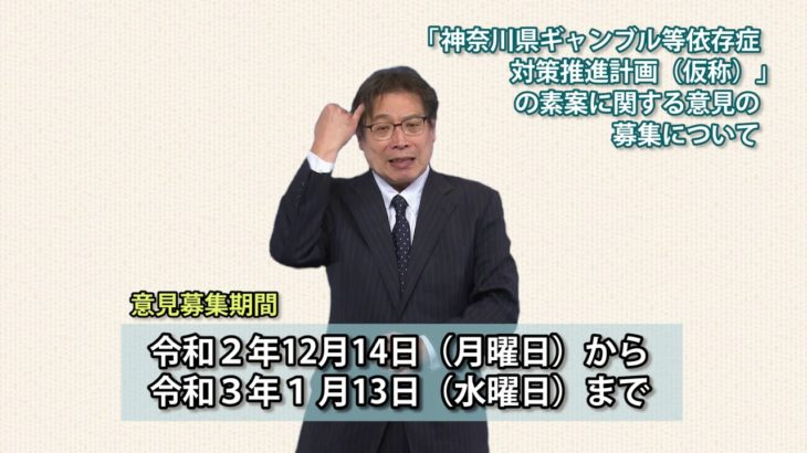 神奈川県ギャンブル等依存症対策推進計画(仮称)