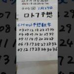 1月29日  第404回  ロト7予想
