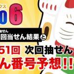 【第1550回→第1551回】 ロト6(LOTO6) 当せん結果と次回当せん番号予想