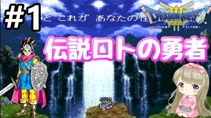#1【女性実況】Wii版 ドラゴンクエストⅢで癒される!伝説ロトの勇者【ドラクエ3】