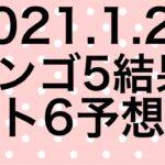 【2021.1.21】ビンゴ5結果&ロト6予想!