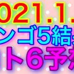 【2021.1.7】ビンゴ5結果&ロト6予想!
