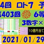 第404回 ロト7予想 2021年1月29日抽選