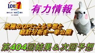 【ロト7】最新情報(第404回結果&次回予想)