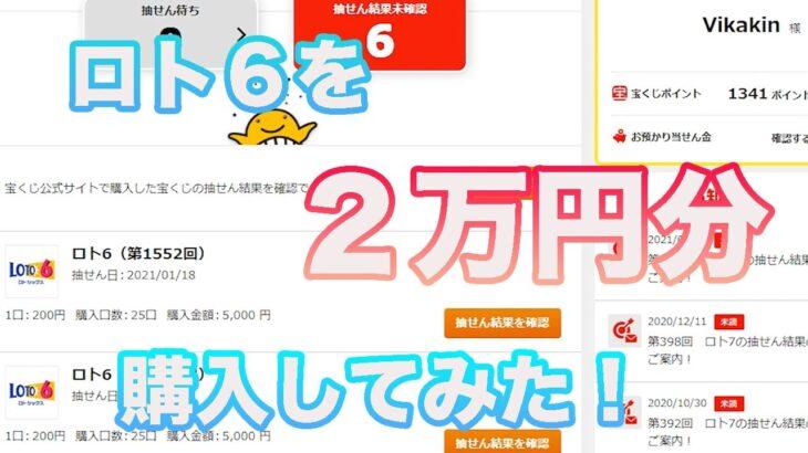 ロト6を2万円分ネット購入してみた結果!