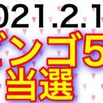 【2021.2.18】ビンゴ5、4ライン当選&ロト6予想!