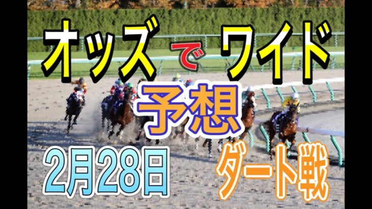 【競馬予想】2月28日 自己流のオッズ法とデータを使いダート戦だけを予想します。