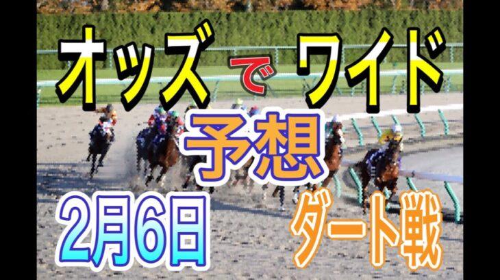 【競馬ダート予想】2月6日 自己流のオッズ法とデータを使いダート戦だけを予想します。