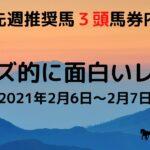 【競馬予想】今週のオッズ的に面白いレース(2月6日&2月7日)平場予想!! 5レース紹介 穴馬・相手になりそうな馬を紹介