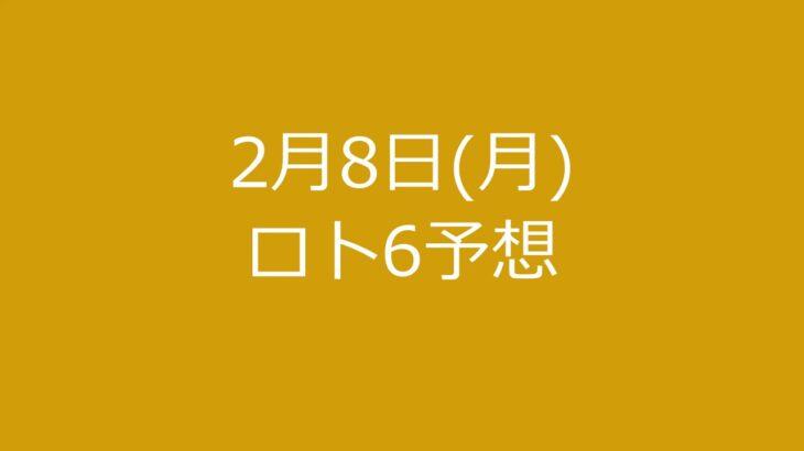 2月8日(月)ロト6予想