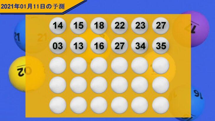 ロト6日本予測2021年01月11日