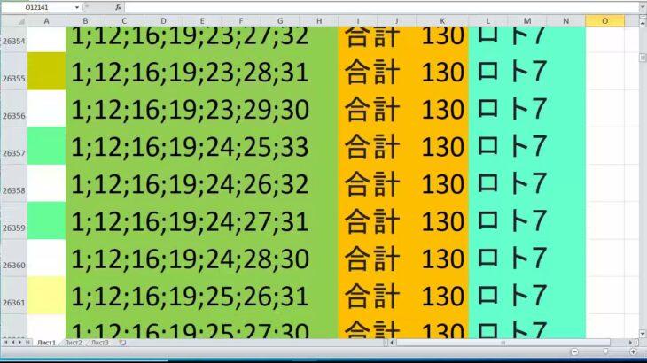 ロト 7 合計 130 ビデオ番号 555