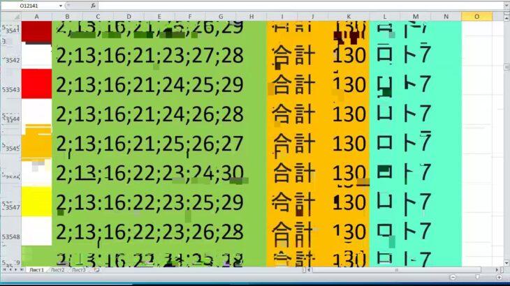 ロト 7 合計 130 ビデオ番号 686