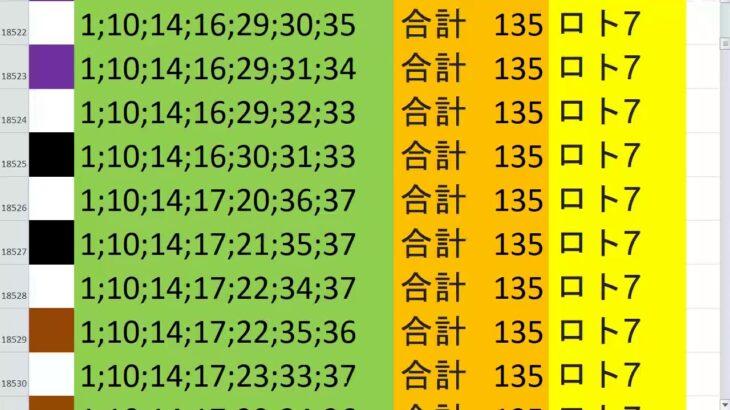 ロト7 合計 135 ビデオ 32