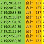 ロト7 合計 137 ビデオ 18