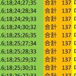 ロト7 合計 137 ビデオ 57