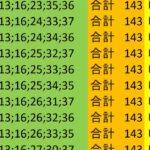 ロト7 合計 143 ビデオ 108