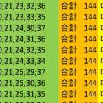ロト7 合計 144 ビデオ 52
