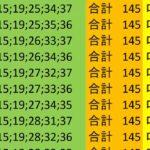 ロト7 合計 145 ビデオ 105