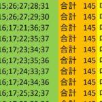 ロト7 合計 145 ビデオ 111