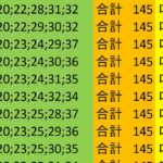 ロト7 合計 145 ビデオ 21