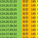 ロト7 合計 145 ビデオ 74