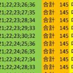 ロト7 合計 145 ビデオ 85