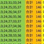 ロト7 合計 146 ビデオ 18