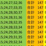 ロト7 合計 147 ビデオ 44