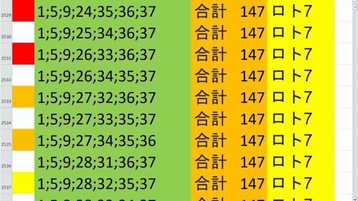 ロト7 合計 147 ビデオ 5