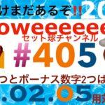 ロト7 405 東京 セット球 2021.02.05【本数字2つとボーナス2つは正解‼️だが】