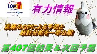 【ロト7】最新情報(第407回結果&次回予想)