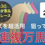 オッズを超活用狙ってGET三連複万馬券【2/20データ表と推奨レース】