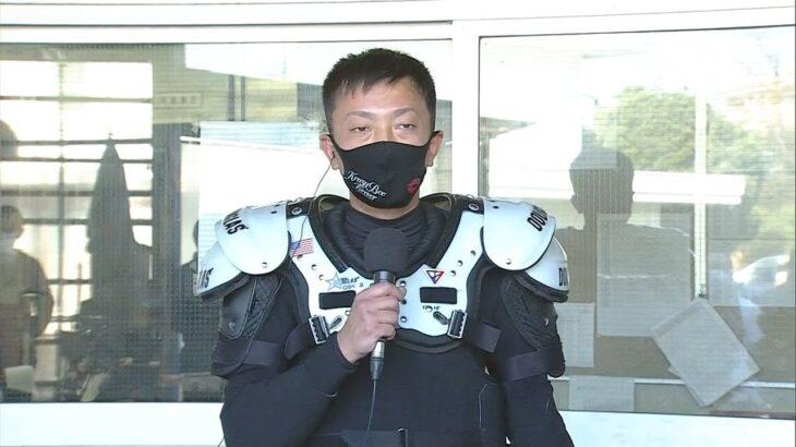 オッズパーク杯SG第34回全日本選抜オートレース4日目・準決勝戦(枠番抽選)、一騎打ちムードをブチ壊してくれるのはこの男か! 飯塚ナンバーワン・荒尾聡(飯塚27期)が1着入線で優出!