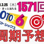 【1571回】ロト6予想!2021.3.25(木)抽選。高額当選を狙います!