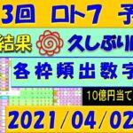 第413回 ロト7予想 2021年4月2日抽選