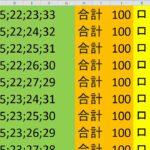 ロト 6 合計 100 (43から6)  ビデオ 710