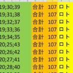 ロト 6 合計 107 (43から6)  ビデオ 158