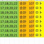 ロト 6 合計 107 (43から6)  ビデオ 272