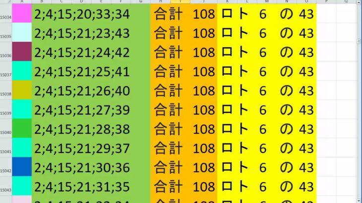 ロト 6 合計108 ビデオ 32