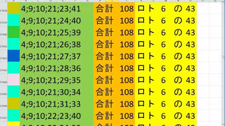 ロト 6 合計108 ビデオ 79
